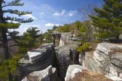 De staatspark van Minnewaska stock fotografie