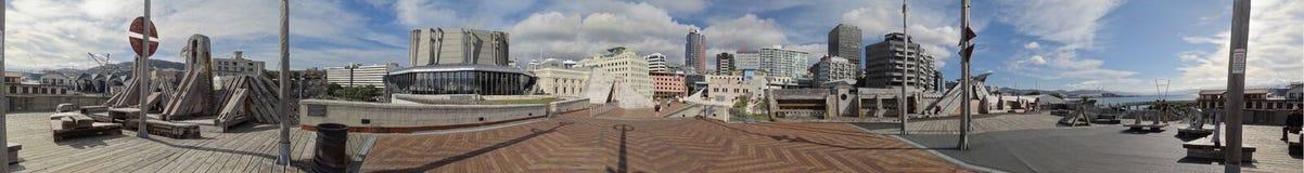 De Stad aan Overzeese Brug op het Openbare Centrum van Wellington stock foto