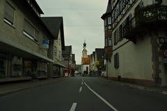 De stad Adelsheim Stock Foto's