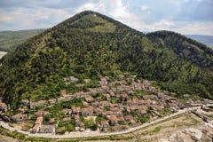 De stad Albanië van Berat Stock Foto's