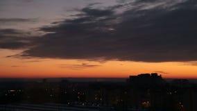 De Stad bij Zonsondergang, Timelapse stock footage