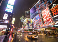 De stad Broadway van New York Stock Afbeeldingen
