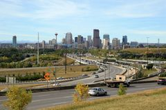 De stad in, Calgary Stock Foto's