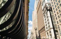 De stad in in Chicago stock afbeeldingen