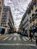 De Stad die van Lissabon Europese Architectuur verbazen stock afbeelding