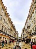De Stad die van Lissabon Europese Architectuur verbazen stock afbeeldingen