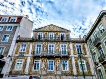 De Stad die van Lissabon Europese Architectuur verbazen royalty-vrije stock foto's