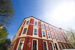 De stad die van Oslo 11 bouwen Stock Foto