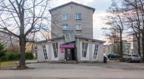 De stad distric Kopli van Estland Tallin stock afbeeldingen