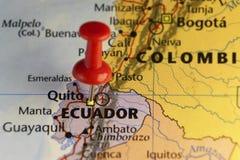 De stad Ecuador van Quitocapitol Stock Afbeelding
