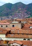 De stad en de bergen van Cuzco Royalty-vrije Stock Fotografie