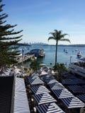 De stad en de haven van Sydney Stock Foto