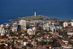 De stad en de voorsteden van Wollongong Stock Fotografie