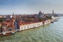 De stad en Grand Canal van Venetië Royalty-vrije Stock Foto