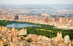 De Stad en het Central Park van New York Royalty-vrije Stock Afbeeldingen