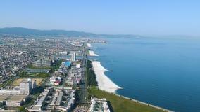 De stad en Osaka Bay Area van Osaka