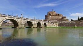 De stad en Tibre Italië van Rome stock videobeelden