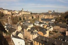 De Stad Europa van panoramaluxemburg stock fotografie