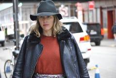 De stad 14 februari 2015 van Fashionweeknew york Stock Foto