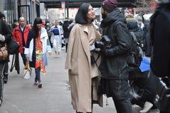 De stad 14 februari 2015 van Fashionweeknew york Stock Foto's