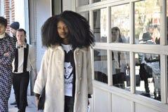 De stad februari 2015 van Fashionweeknew york Royalty-vrije Stock Afbeeldingen
