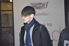 De stad februari 2015 van Fashionweeknew york Royalty-vrije Stock Foto