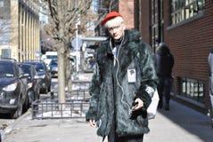 De stad februari 2015 van Fashionweeknew york Stock Foto