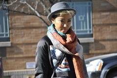 De stad februari 2015 van Fashionweeknew york Stock Foto's