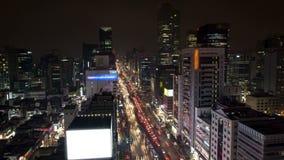 De Stad Gangnam van Seoel de stad in stock video