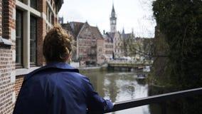 De stad in in Gent stock videobeelden
