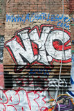 De Stad Graffiti van New York Stock Foto's