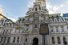 De Stad Hall Building van Philadelphia stock fotografie