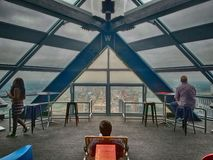 De Stad Hall Observation Deck van Philadelphia stock afbeelding