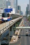 De Stad & het Vervoer van Bangkok Stock Foto's