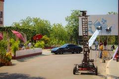 De stad Hyderabad van de Ramojifilm stock afbeeldingen