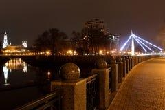 De stad Kharkiv van de kadenacht Royalty-vrije Stock Afbeelding
