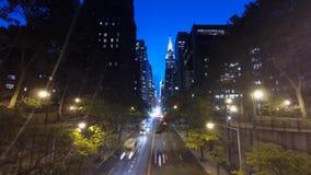 De Stad Manhattan, de 42ste tijdspanne van New York van de straattijd stock footage
