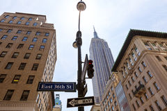 De stad Manhattan Fifth Avenue 5de Av de V.S. van New York Stock Foto