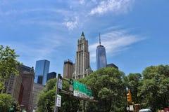 De stad in, Manhattan, New York stock afbeeldingen