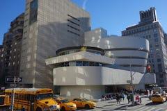 De stad Manhattan de V.S. van New York van het Guggenheimmuseum stock afbeeldingen