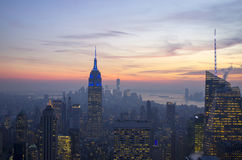 De Stad Manhattan van Empire State Buildingnew york Stock Foto