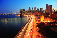 De Stad Manhattan van New York de stad in Stock Afbeelding