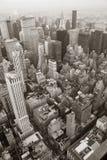 De Stad Manhattan van New York skylineblack en wit royalty-vrije stock afbeelding