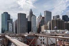 De stad in in New York de Verenigde Staten van Amerika Royalty-vrije Stock Afbeelding