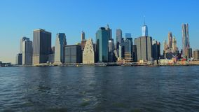De stad New-York Horizon Manhattan NYC Verenigde Staten stock videobeelden