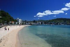 De Stad Nieuw Zeeland van Wellington Stock Foto