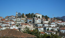 De stad Ohrid - Kerk StClement Stock Foto's