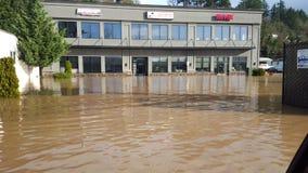 De stad in overstroomd Royalty-vrije Stock Foto