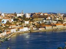 De stad Porto van het landschap Stock Fotografie