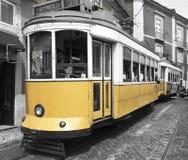 De stad Portugal van tramspoorlissabon Stock Foto